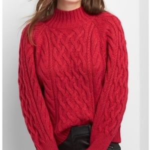 Red cable knit Gap sweater